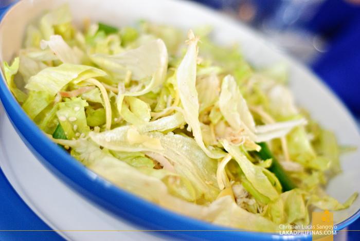 Salad at Dumaguete's Sans Rival Bistro