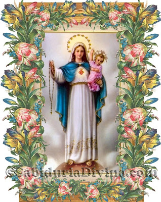 Resultado de imagen de «Dios te salve, María,  templo y sagrario de la Santísima Trinidad, ayúdanos».