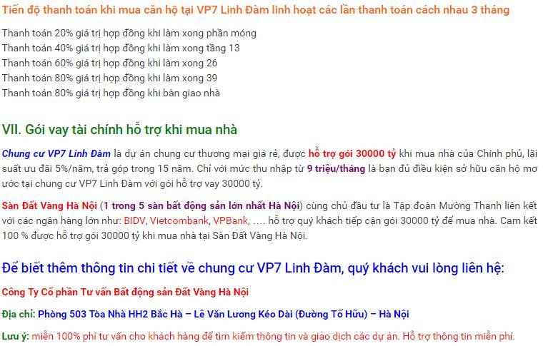 Chung cư VP7 Linh Đàm - Dự án chung cư giá rẻ HOT nhất 2016 - 11