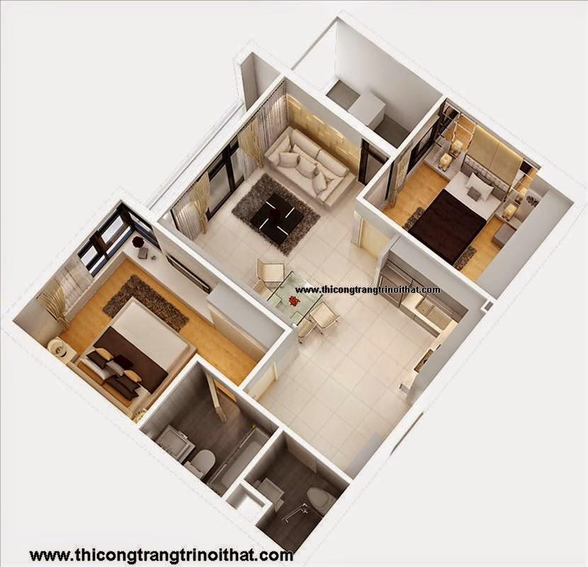 Trang trí nội thất trọn gói căn hộ Quận 4
