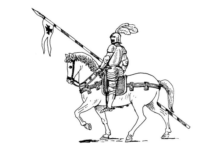 errant knight coloring pages
