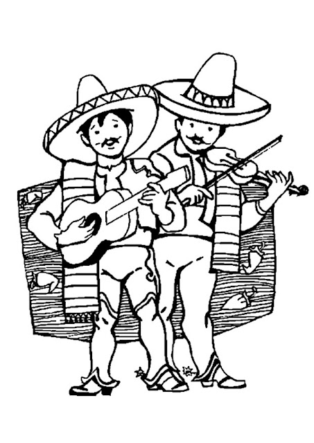 Mexican Mariachi coloring pages
