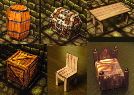 Fantasy RPG Furniture Fixture Papercraft