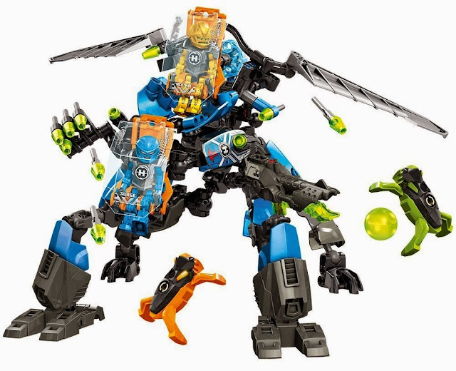 Bối ảnh trận đấu của bộ Lego 44028 Cỗ máy chiến đấu Combat Machine