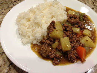 Ground Beef Japanese Curry with Rice