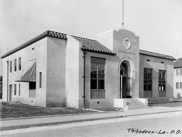 Thibodaux, LA post office, 1926