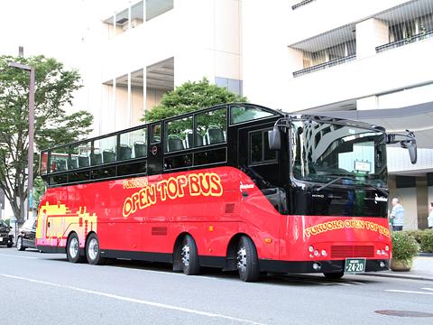 西日本鉄道「福岡オープントップバス」 赤塗装