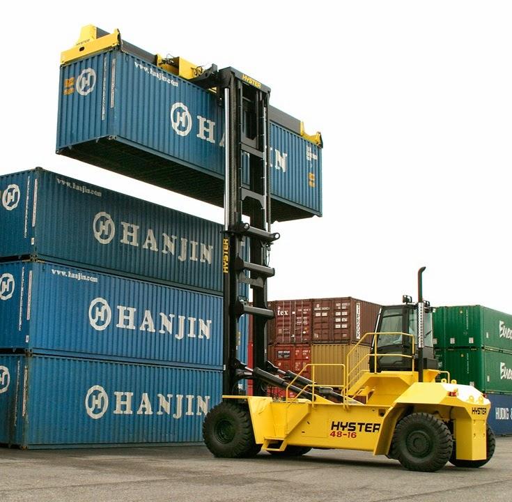 xe nang container