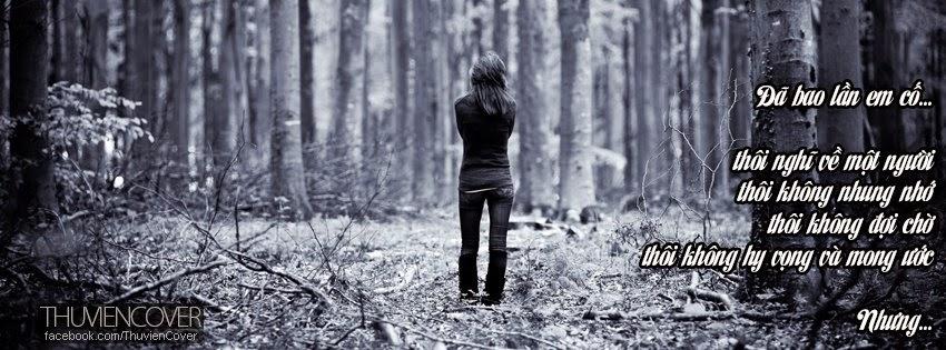 ảnh bìa facebook cô gái buồn đi lang thang