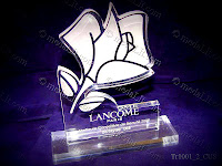 "Lancome Paris Trophy. Any shape, any size, any color. Our ""Custom Made Acrylic"" (Plexiglass) trophies are made of acrylic sheets, they may take various shapes and sizes, you can either give us your own design specifications or we can depend on your own guidelines to come up with a design that suits your taste and need. There are many different ways to implement designs onto your trophy, for instance you can choose to engrave designs, sandblast parts or you can even choose to mount a medal or a plaque on it. Wide selections of colors are available. Standard is crystal clear body. Any size and shape can be produced.  Standard thickness is between 8 and 20 mm. Any text and drawing can be laser engraved on the body. Engraved areas on clear acrylic appear milky white. Engraved areas appear milky white. Standard thickness is between 8 and 20 mm. Customer choose packaging to suit his requirements.  www.medalit.com - Absi Co"