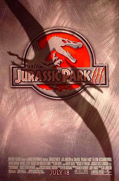 Poster Of Jurassic Park III (2001) Full Movie Hindi Dubbed Free Download Watch Online At Alldownloads4u.Com