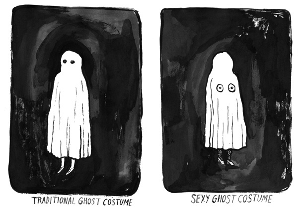 Traditional & Sexy Ghost Costume