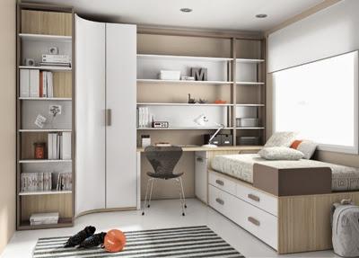 Habitaciones infantiles con armario esquinero - Armarios de dormitorio merkamueble ...