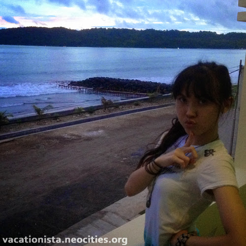Cute Alexia pose on Hotel balcony in the afternoon one