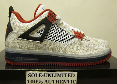 For all my fusion lovers this one is for you. The original Air Jordan IV  'Laser' released in 2005 and in 2009 the fusion Air Jordan IV and Air Force  One ...