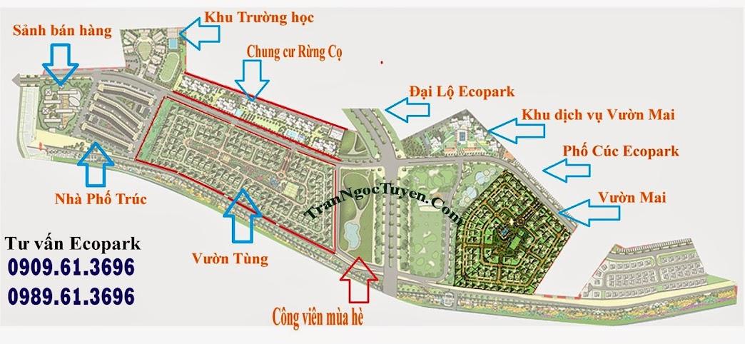 Phân khu nhà ở giai đoạn 1 khu đô thị Ecopark
