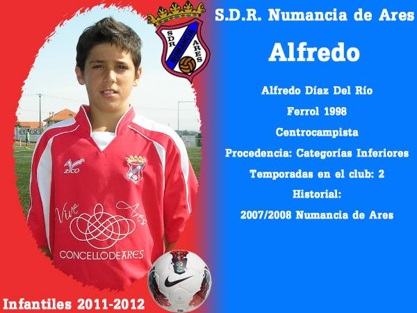 ADR Numancia de Ares. Infantís 2011-2012. ALFREDO.