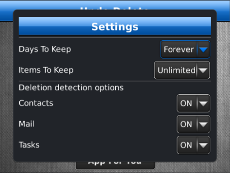 Undo Delete v1.3 for BlackBerry