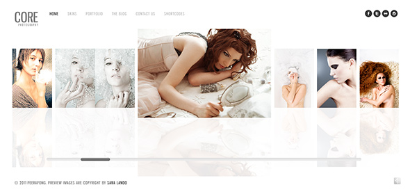 Core Minimalist WordPress Theme for Wedding Photographers