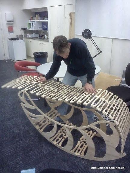 Сборка прототипа фанерного кресла