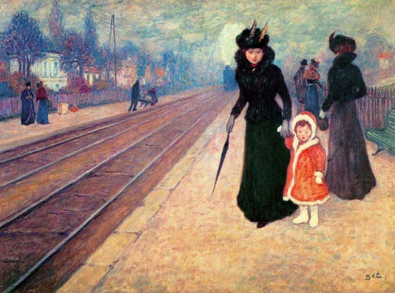Georges d'Espagnat - La gare de Banlieu
