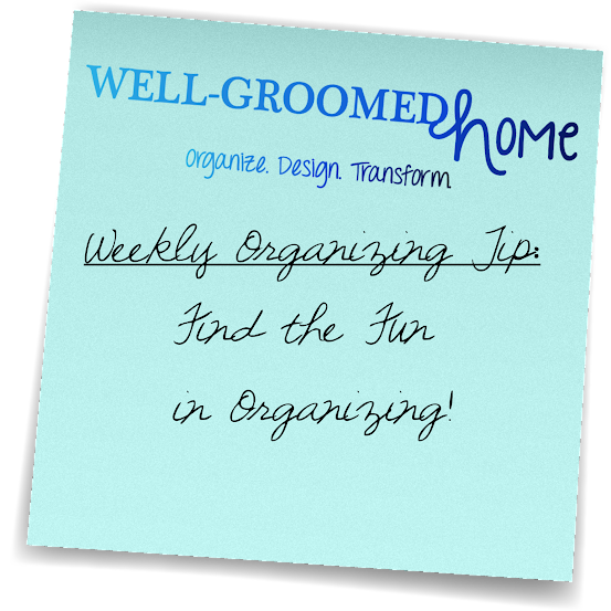 weekly organizing tips