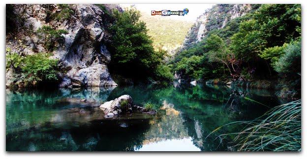 alfios river arcadia peloponnese greece deep