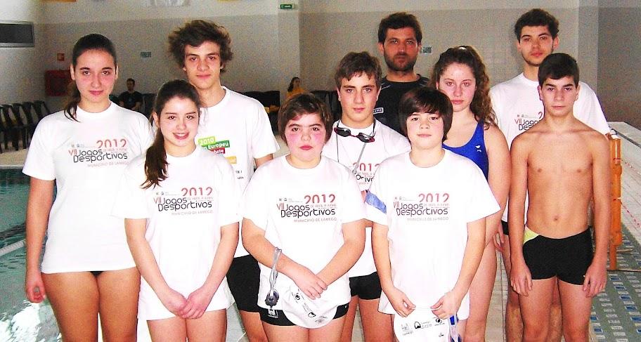 Jovens nadadores de Lamego conquistam posições de relevo em prova distrital