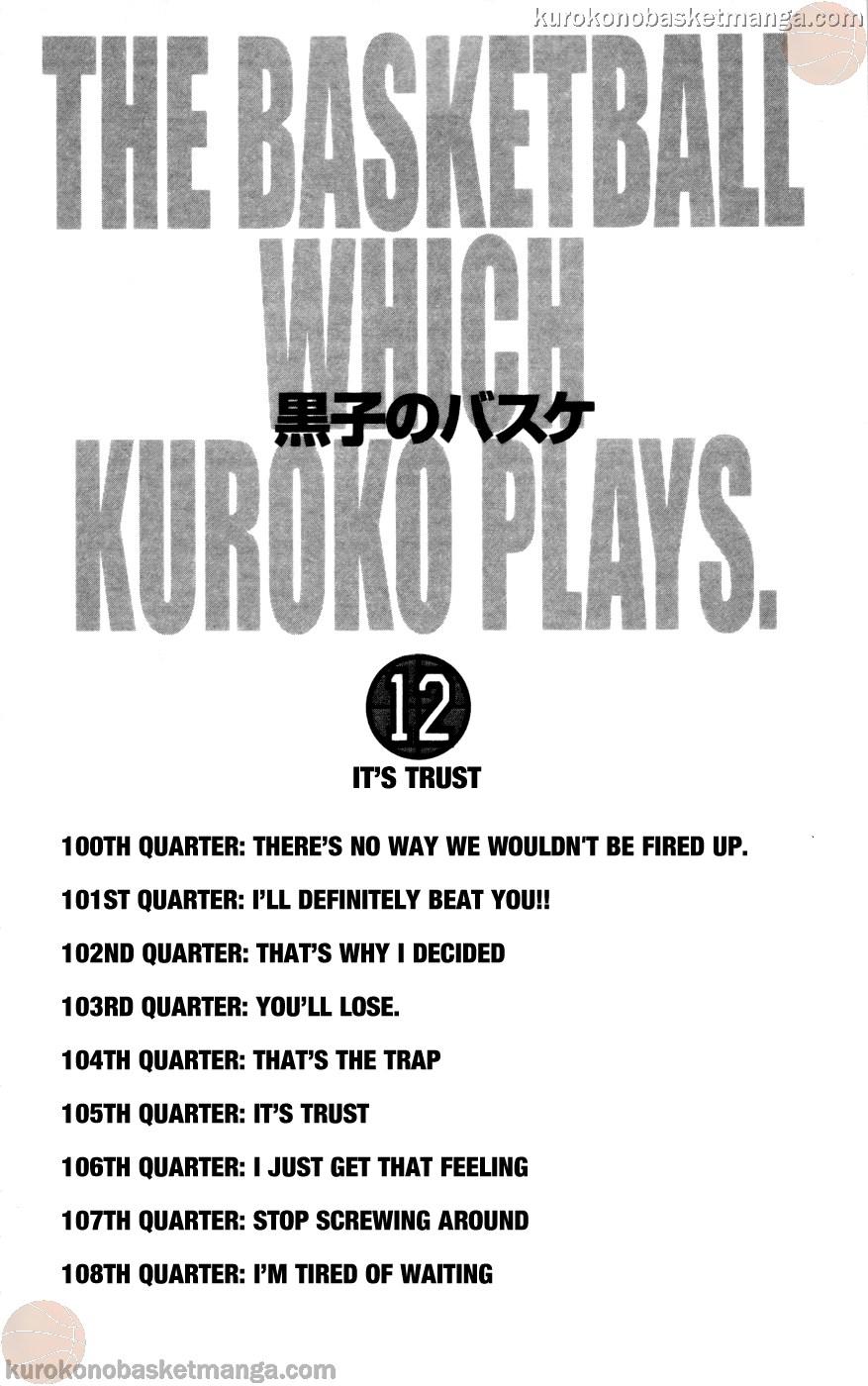 Kuroko no Basket Manga Chapter 100 - Image 04