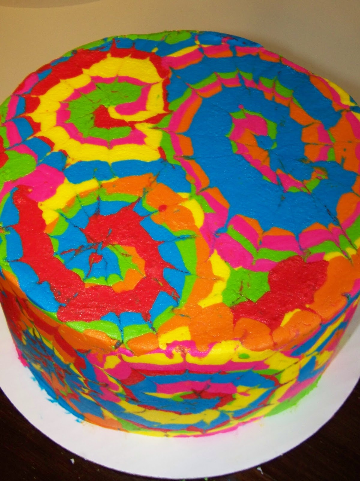 Tie Dye Fondant Cakes