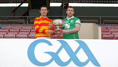24/04/2013NO REPRO FEE.Pictured at the Launch of the 2013 Cork County Football Championship, first round teams drawn against each other in the 1st round, for the Andy Scannell Cup, John Crowley, Newcestown and Tommy Hornibrook, St. Vincents, at Pairc Ui Chaoimh, Cork.Picture. Jim Coughlan.