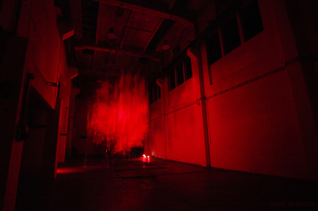 David Spriggs's Massive Suspended Red Cloud