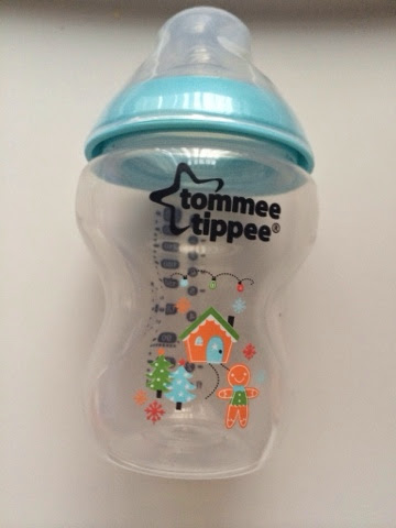 Tommee tippee blue christmas bottle