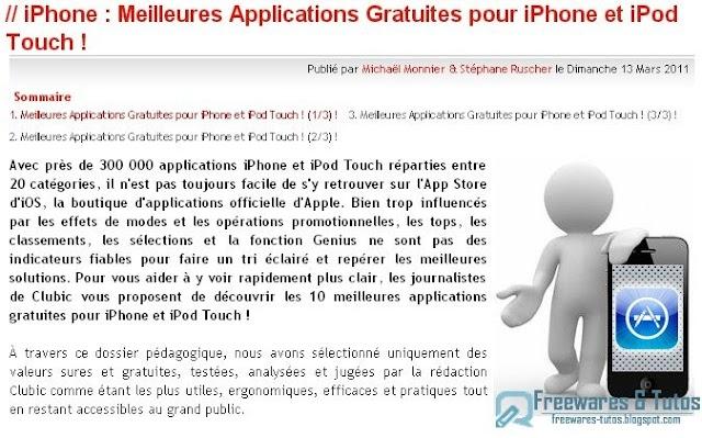 Le site du jour : Les meilleures applications gratuites pour iPhone et iPod Touch