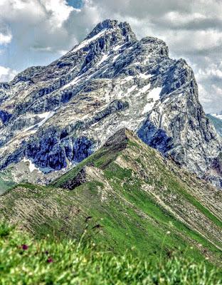 vom roßberg blick nach Osten Rätikon lünersee Vorarlberg
