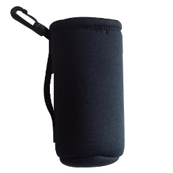 Intrepid International Neoprene Water Bottle Carrier, Black - image