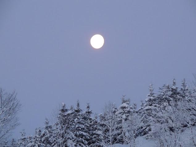 早朝の月・西の方角に沈む頃2