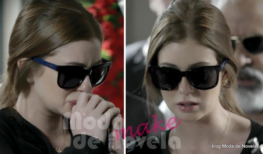 moda da novela Império, os óculos escuros da Maria Isis no enterro do comendador José Alfredo