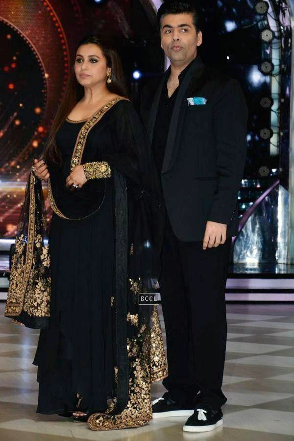 Rani Mukerji with Karan Johar on the sets of Jhalak Dikhhla Jaa 7.(Pic: Viral Bhayani)