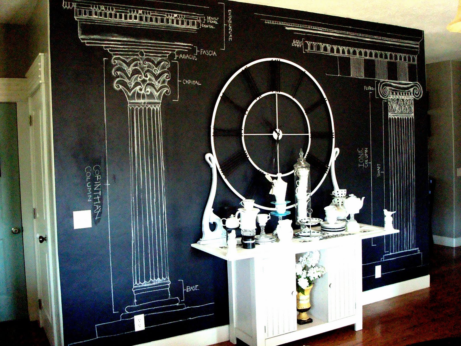Chalkboard paint wall blue ribbon award for How to paint a wall with chalk paint
