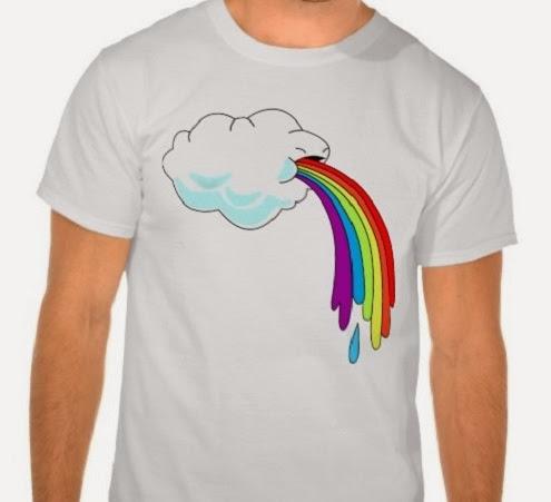inspiração: arco-íris - camiseta com nuvem e arco-íris