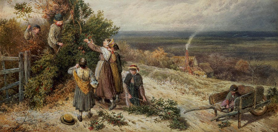 Myles Birket Foster - Holly Gatherers