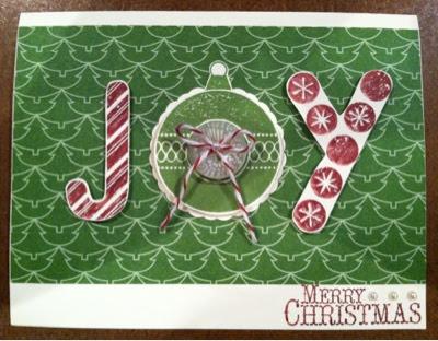 Handmade Christmas Card www.jennsavstamps.blogspot.com