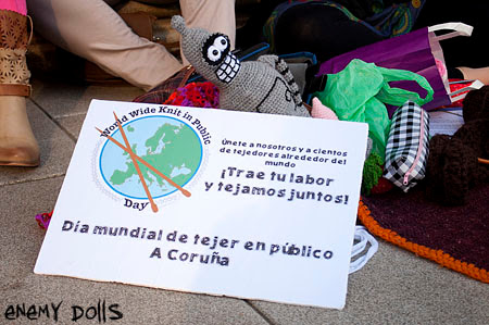 Día mundial de tejer en público A Coruña 2013 - WWKIPD A Coruña