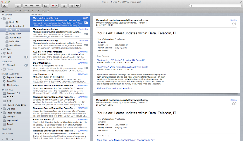 Apple OSX Lion Mail