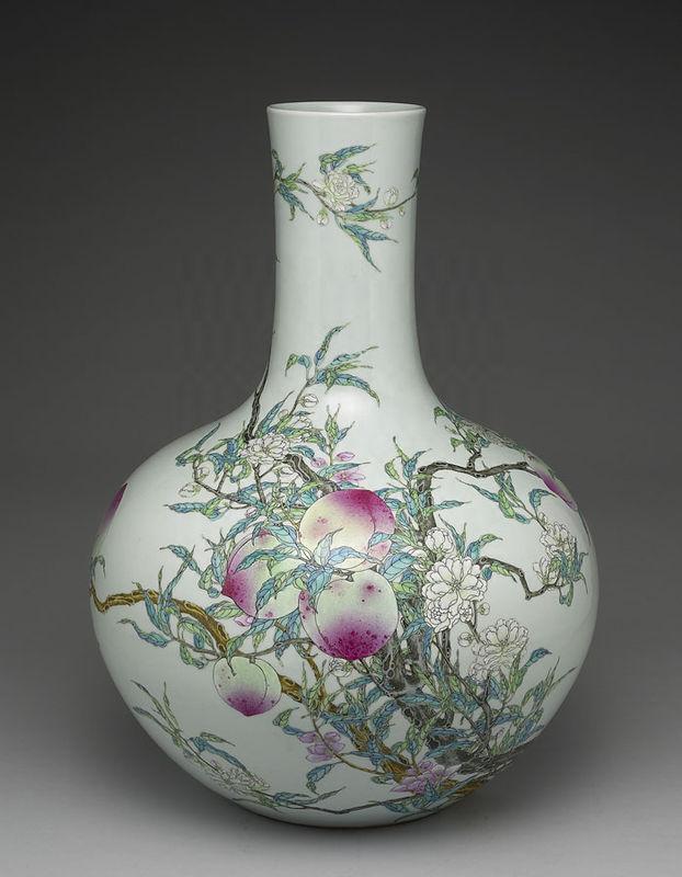 Chinese Glass Bone Vase