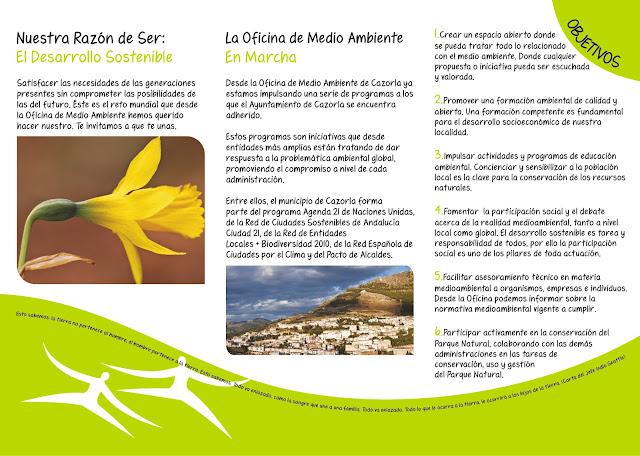 Bolet n de la oficina de medio ambiente de cazorla marzo 2011 for Oficina medio ambiente