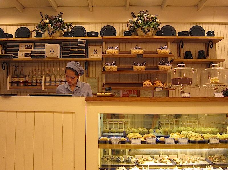 counter of Mom & Tina's Bakery & Café