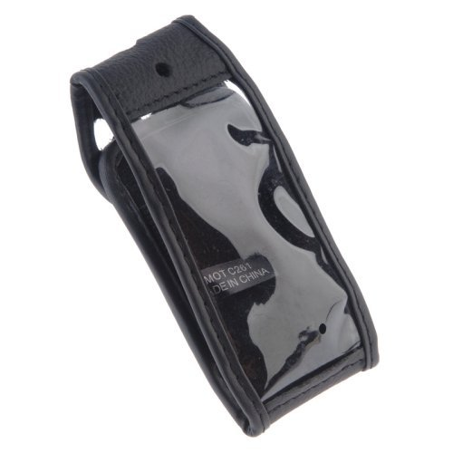 Leather Case with Leather Wrapped Belt Clip for Motorola C261