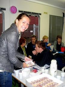 Marieke jonker trapt af bij KNSB-opleiding SL2 in Apeldoorn